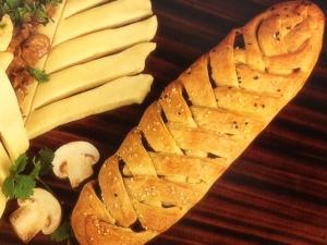 mushroom pleated bread