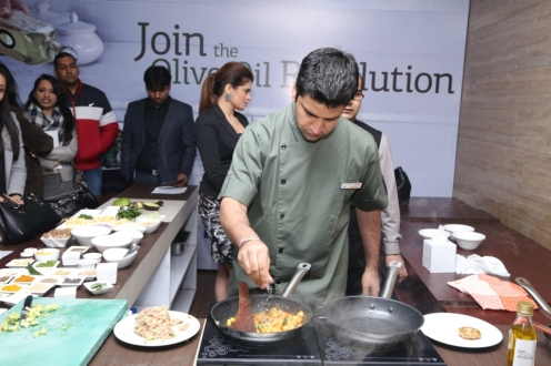 Chef Kunal Kapoor Cooking with Olive Oil