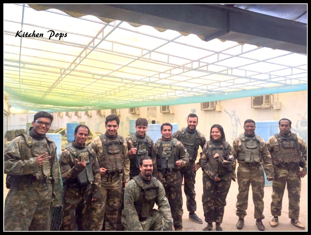 Civilians with celebrity trainer Shayamal Vallabhjee at Painball Test