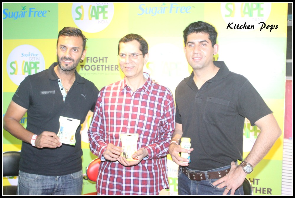 L-R Fitness Trainer-Shayamal, Zydus Wellness MD Elkana Ezekiel, Major Vikram Mohan 2