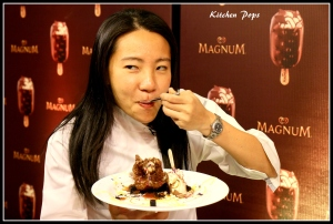Asia's best pastry Chef Janice Wong with her Magnum Chocolate H20 Mousse...-2