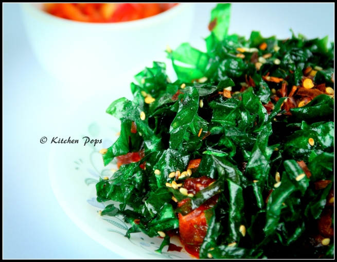 Crackling Spinach and Paneer
