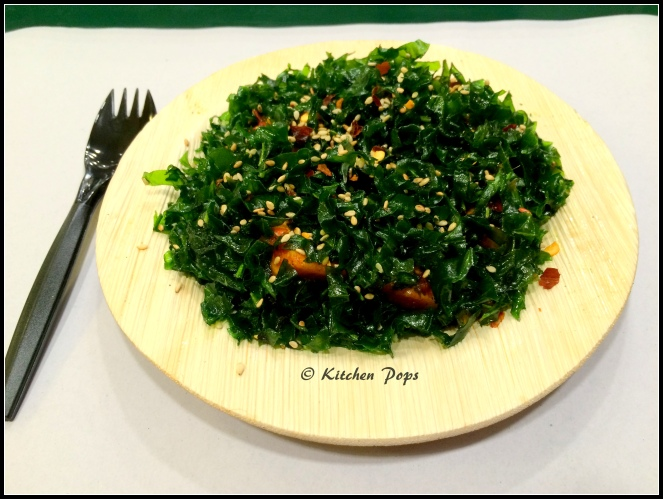 Crackling Spinach with Paneer3
