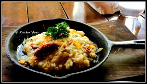Crispy Garlic Risotto