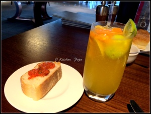 Citrus Cooler with Bruchetta