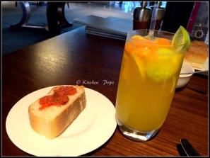 Citrus Cooler with Bruchetta