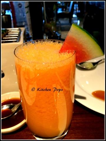 Blush - a watermelon, mango, fresh pineapple and honey drink
