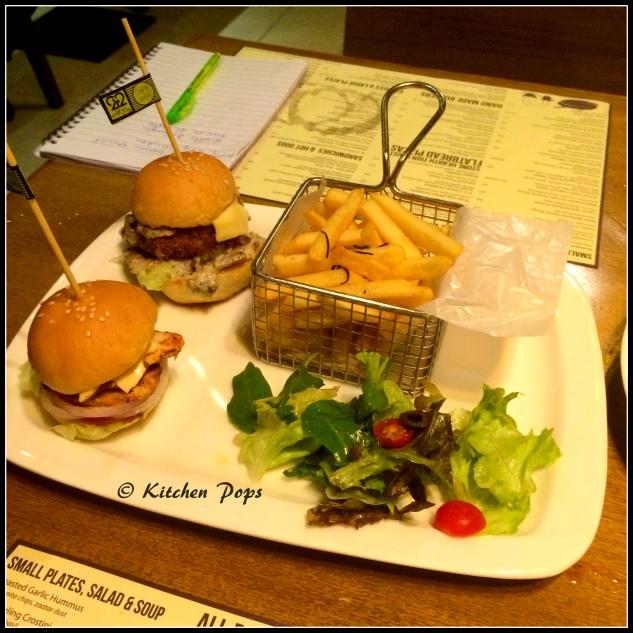 Shroom burger and the mediterranean