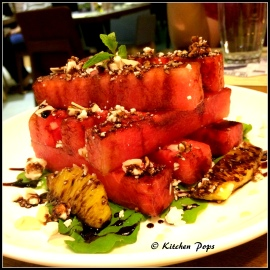 Watermelon and Goat Cheese stack