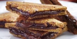Wheat Bread Chocolate Sandwich