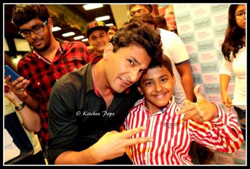 Chef Vikas with his lil fan