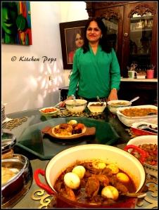 Ananya Banerjee with Ethopian cuisine