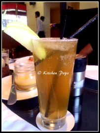 Green Apple and clove lemonade